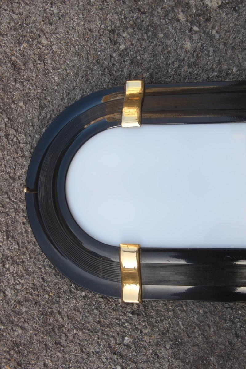 italienische wandlampe in schwarz gold 1970er bei. Black Bedroom Furniture Sets. Home Design Ideas
