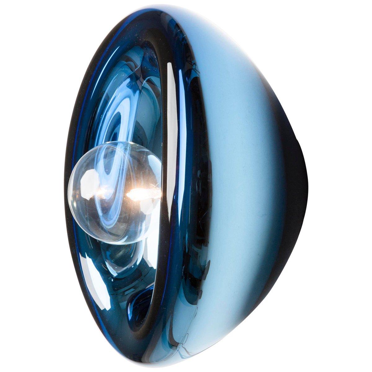 applique murale aurum en verre bleu par alex de witte en. Black Bedroom Furniture Sets. Home Design Ideas