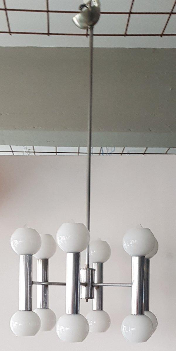 Verchromte Vintage Deckenlampe von Targetti