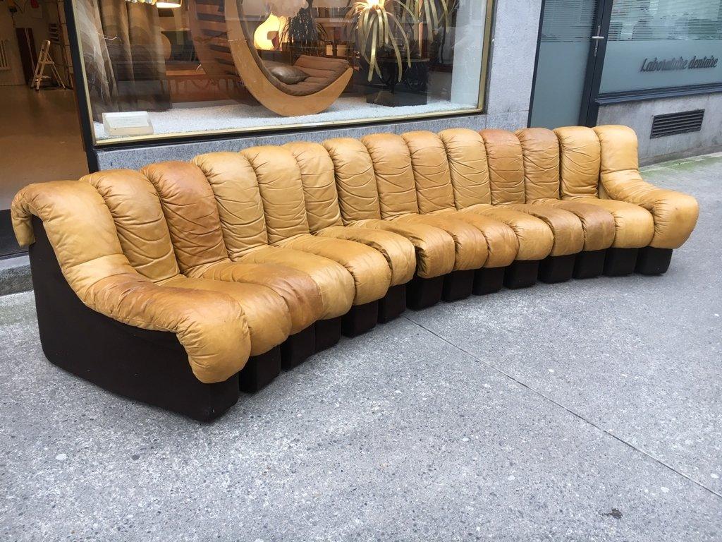 canap ds600 en cuir cognac par eleonore peduzzi riva pour. Black Bedroom Furniture Sets. Home Design Ideas