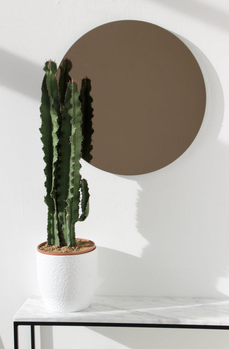 Petit miroir rond teint bronze par alguacil perkoff ltd en vente sur pamono for Miroir teinte design