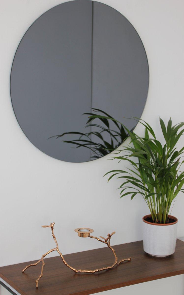 miroir orbis medium rond teint noir par alguacil. Black Bedroom Furniture Sets. Home Design Ideas