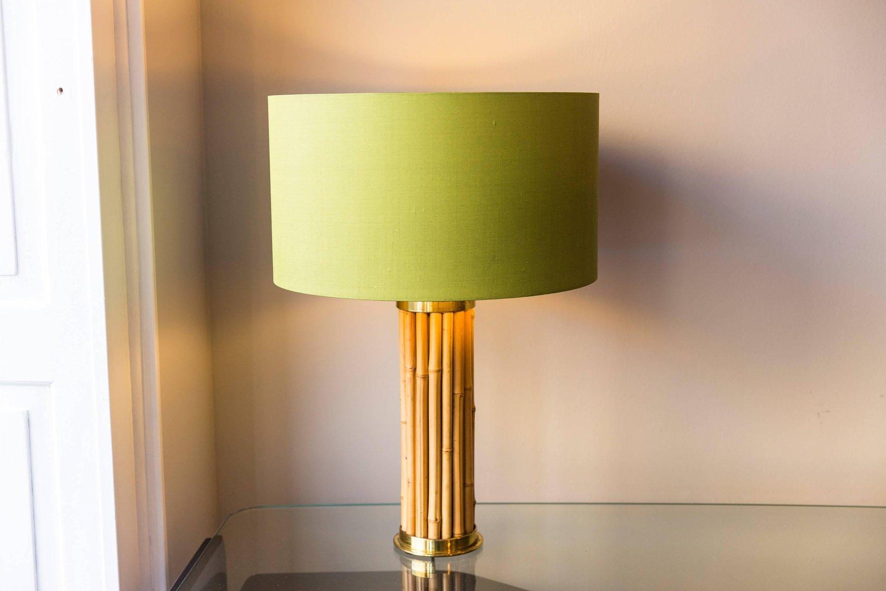 Italienische Tischlampe aus Bambus, 1970er