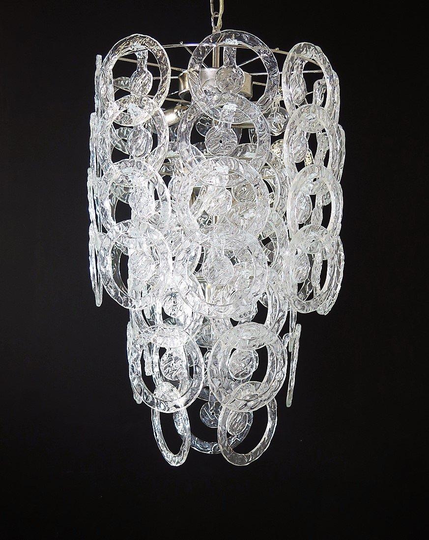 lustre en verre de murano de vistosi 1973 en vente sur pamono. Black Bedroom Furniture Sets. Home Design Ideas