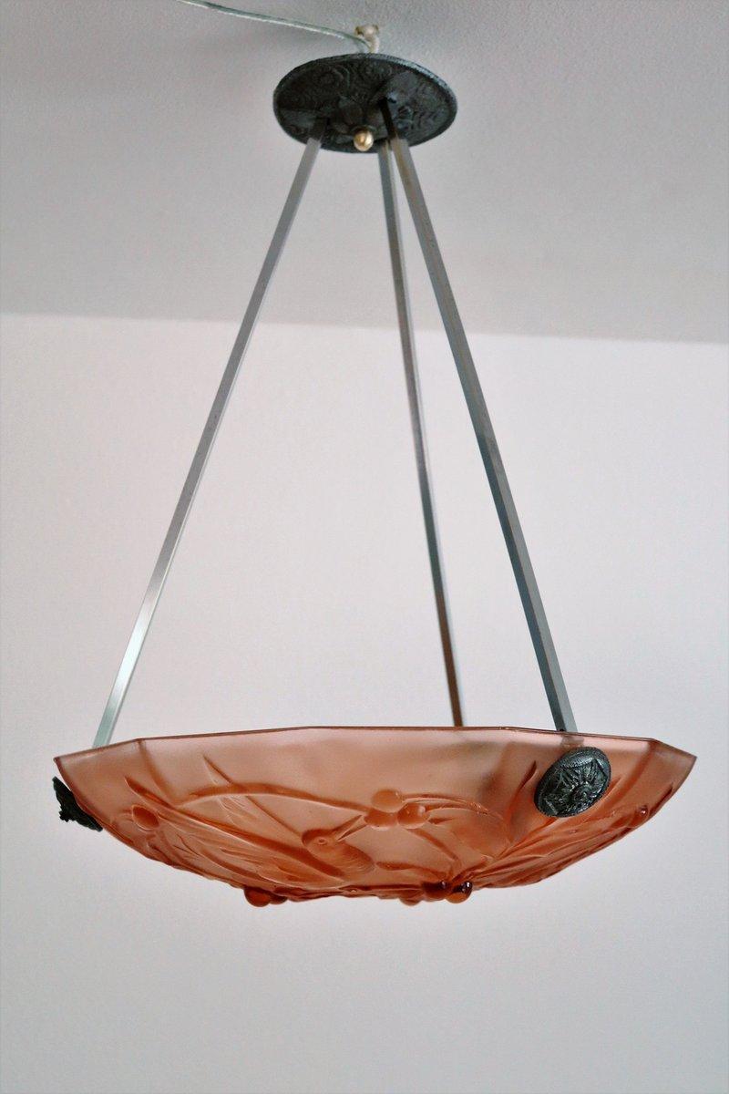 plafonnier art deco en verre murano italie 1940s en. Black Bedroom Furniture Sets. Home Design Ideas