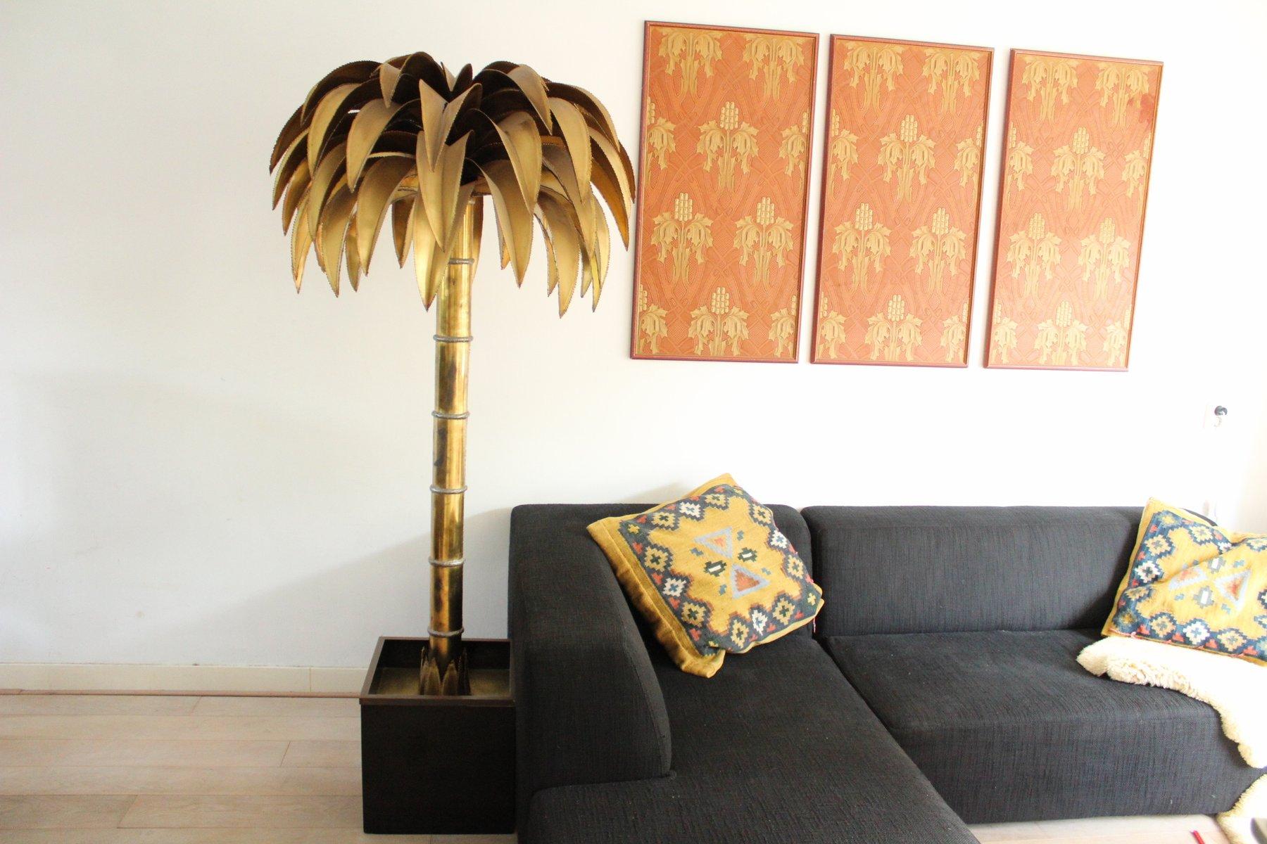Vintage Palm Tree Floor Lamp from Maison Jansen