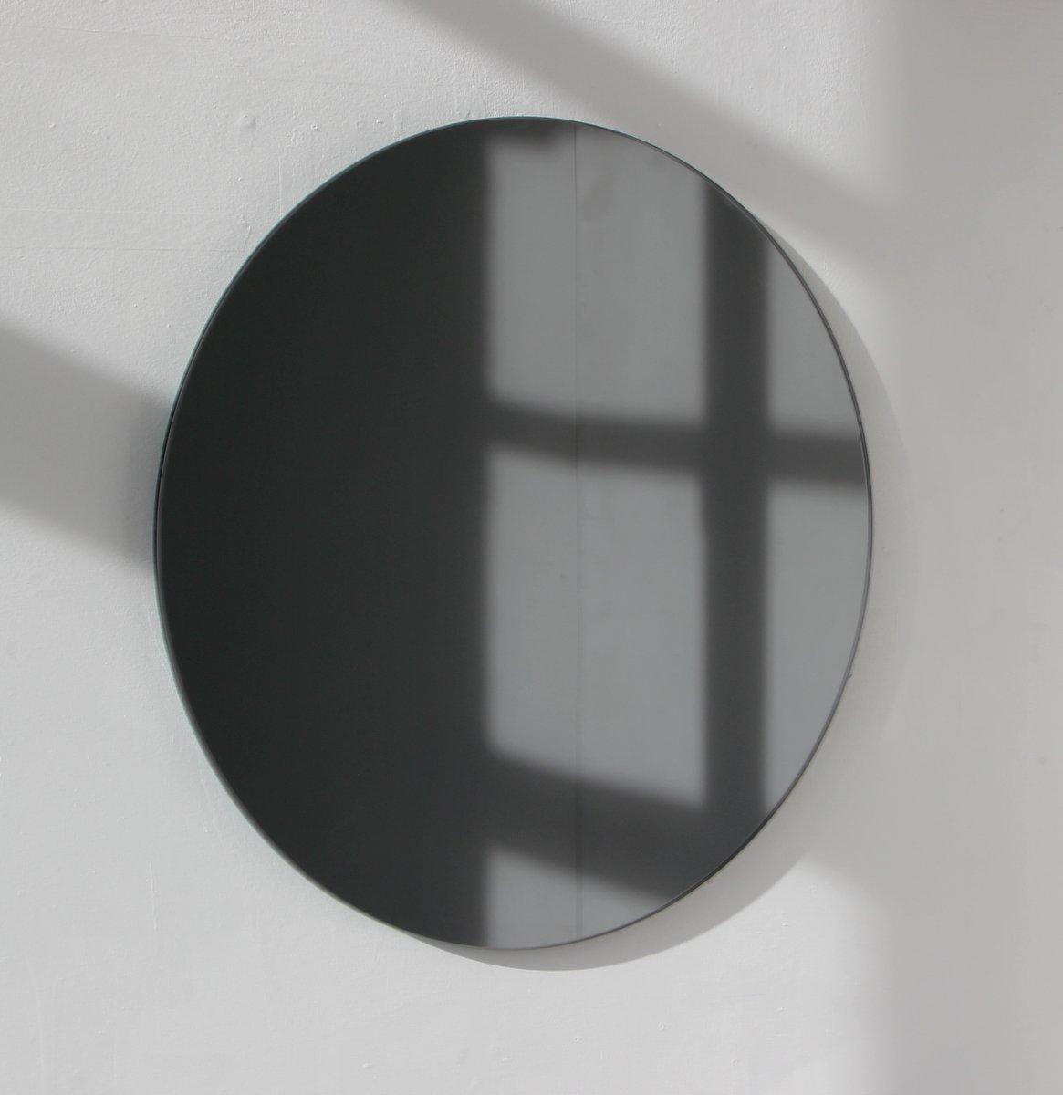 miroir rond xl orbis teint noir sans cadre par alguacil. Black Bedroom Furniture Sets. Home Design Ideas