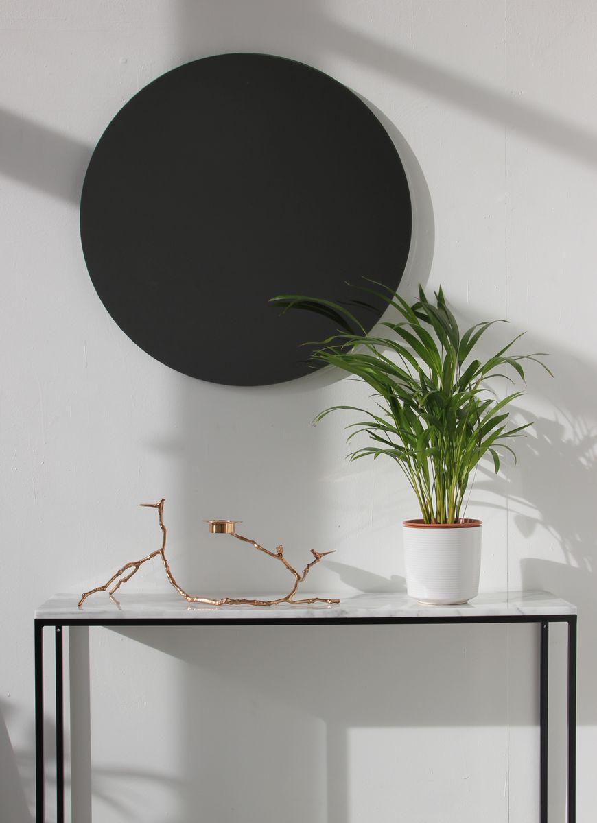 miroir rond xl orbis teint noir sans cadre par alguacil perkoff ltd en vente sur pamono. Black Bedroom Furniture Sets. Home Design Ideas