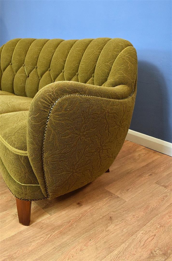 canap 3 places banana vert art deco danemark 1930s en. Black Bedroom Furniture Sets. Home Design Ideas