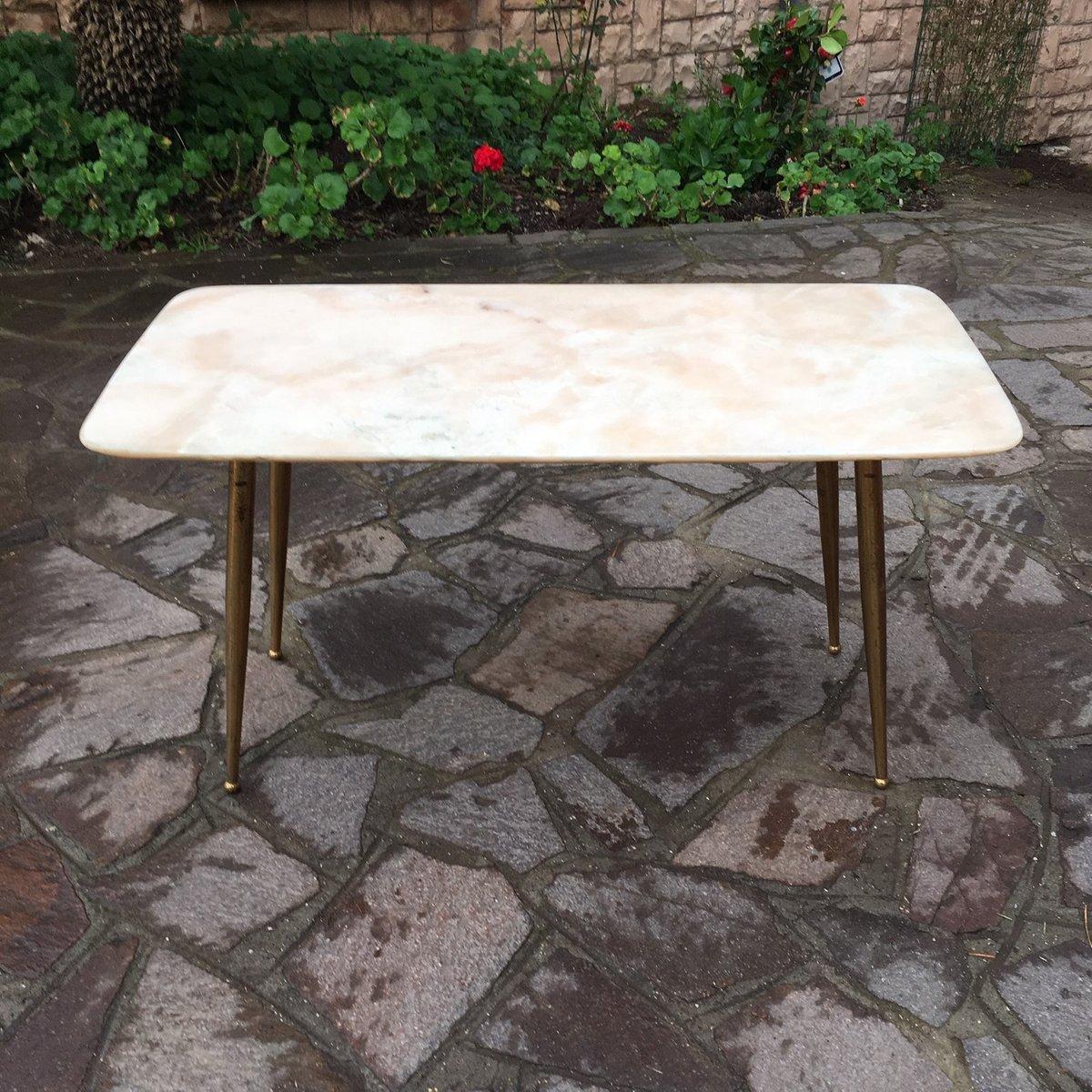 Couchtisch mit pinker marmorplatte 1950er bei pamono kaufen for Couchtisch marmorplatte