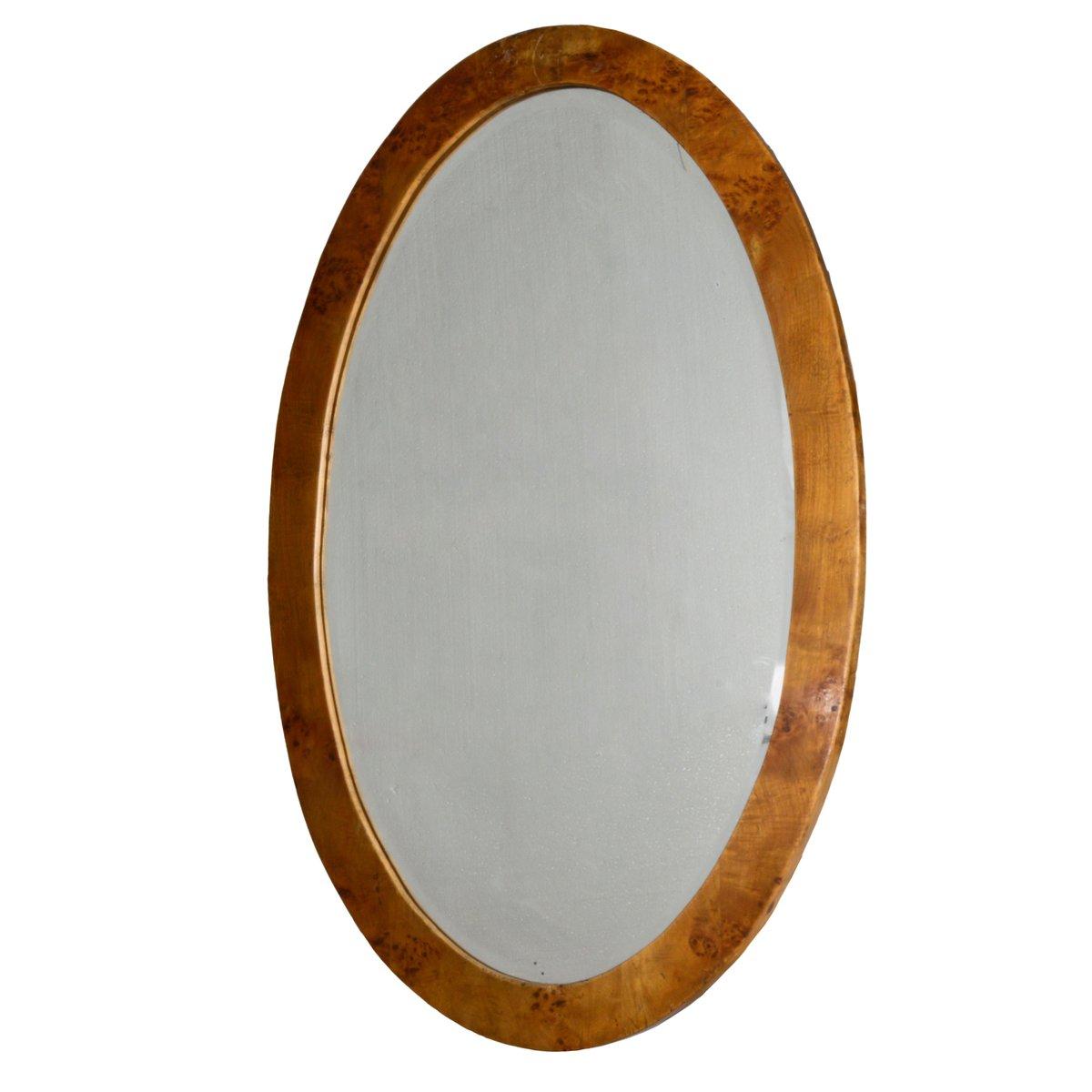 miroir ovale art d co en broussin italie 1930s en vente. Black Bedroom Furniture Sets. Home Design Ideas