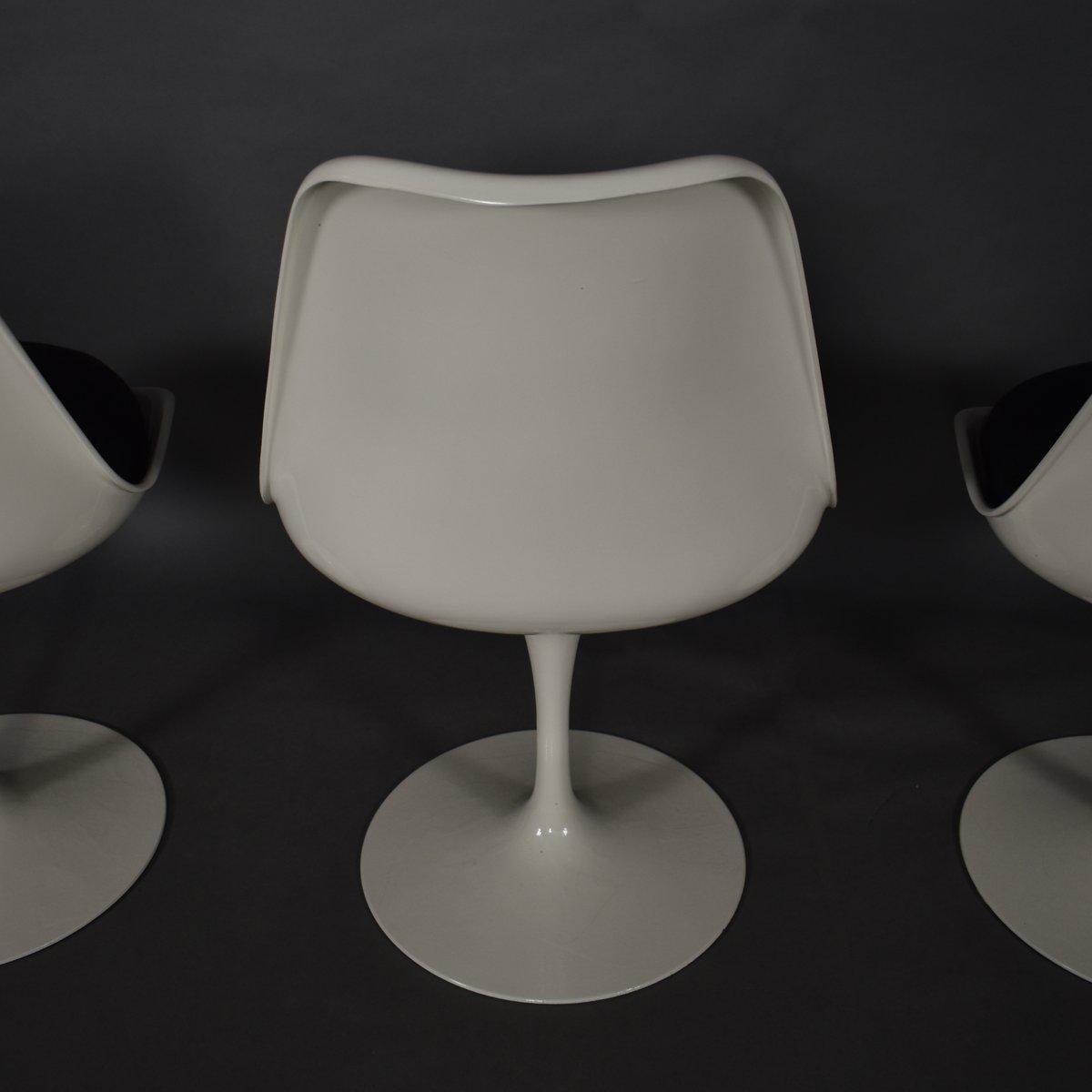 chaises tulipe par eero saarinen pour knoll 1950s set de. Black Bedroom Furniture Sets. Home Design Ideas
