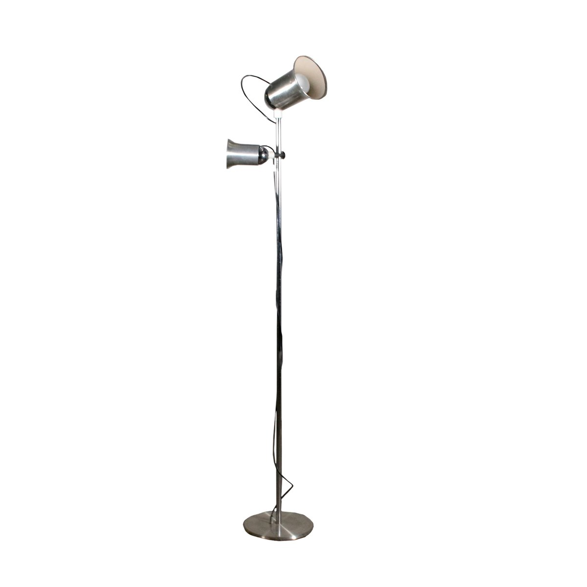 Italienische Stehlampe aus Aluminium, 1970er