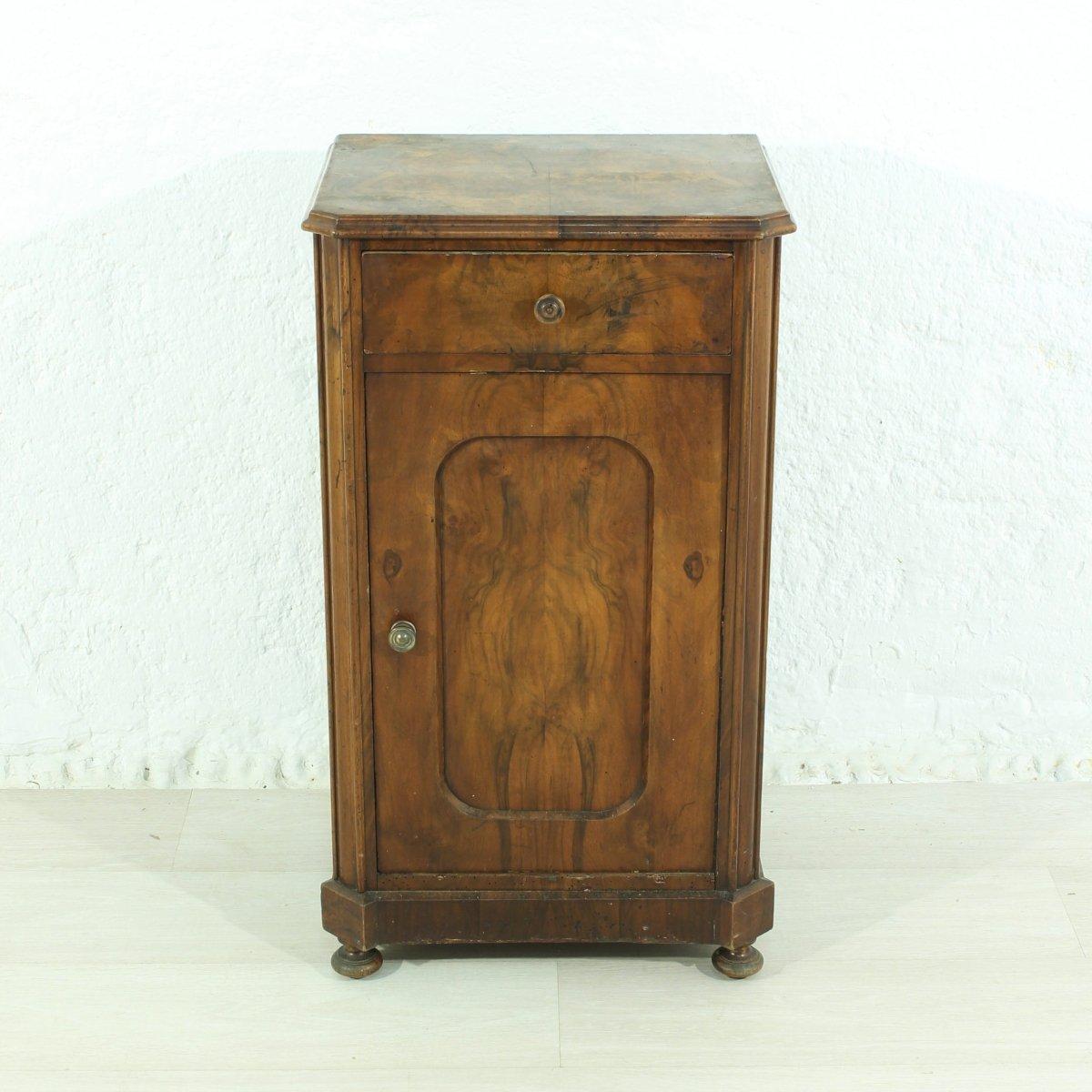 Antique Walnut Nightstand 1880s