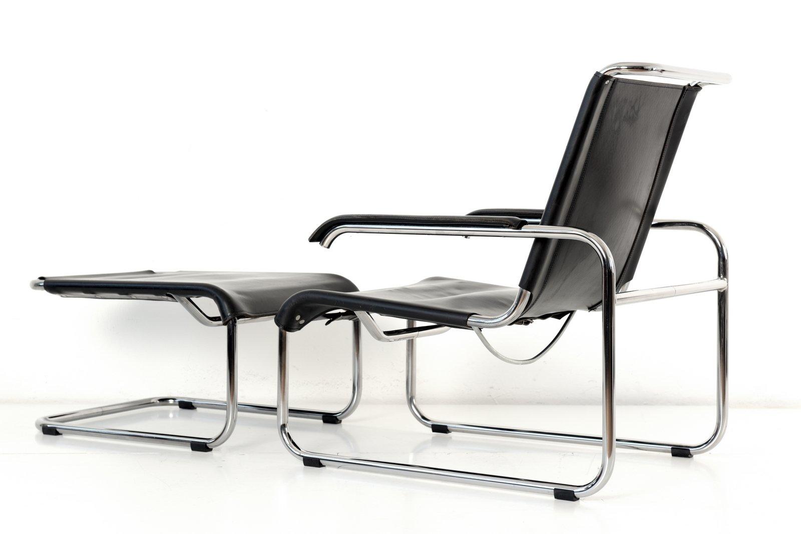 S35 Sessel mit Fußhocker von Marcel Breuer für Thonet