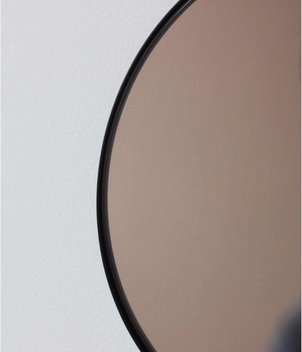 grand miroir rond orbis teint bronze avec cadre noir par alguacil perkoff ltd en vente sur pamono. Black Bedroom Furniture Sets. Home Design Ideas