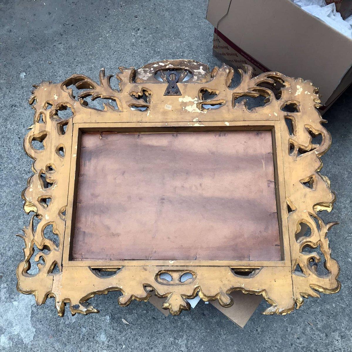 Miroir rectangulaire antique sculpt et dor en vente sur pamono for Miroir dore rectangulaire