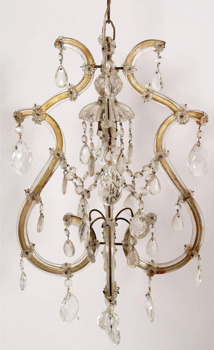 lustre en verre de murano par salviati 1910s en vente sur. Black Bedroom Furniture Sets. Home Design Ideas