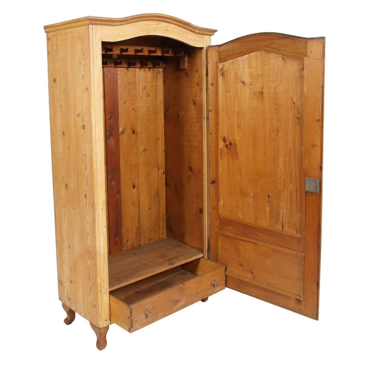 garderobe aus holz 19 jh bei pamono kaufen. Black Bedroom Furniture Sets. Home Design Ideas