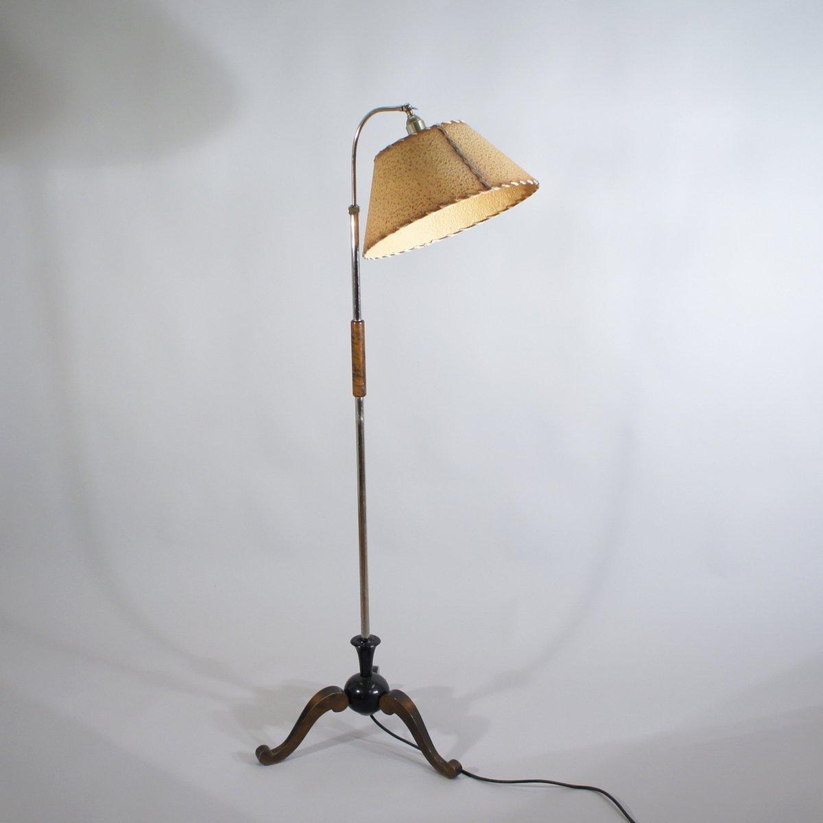 Vintage Swedish Floor Lamp, 1930s