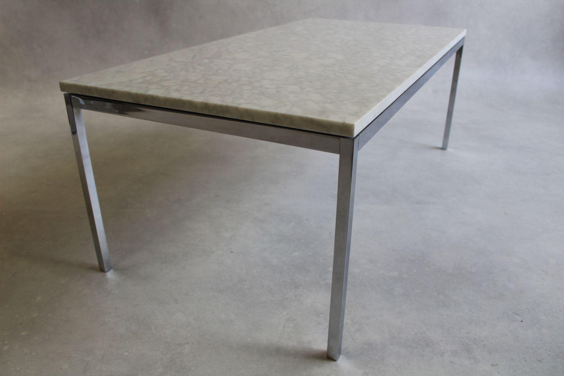 table basse vintage en marbre et chrome par florence knoll bassett pour knoll international en. Black Bedroom Furniture Sets. Home Design Ideas