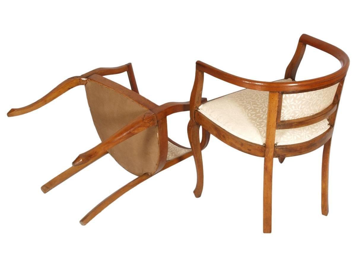 Geschnitzte Italienische Jugendstil Sessel Hocker Aus
