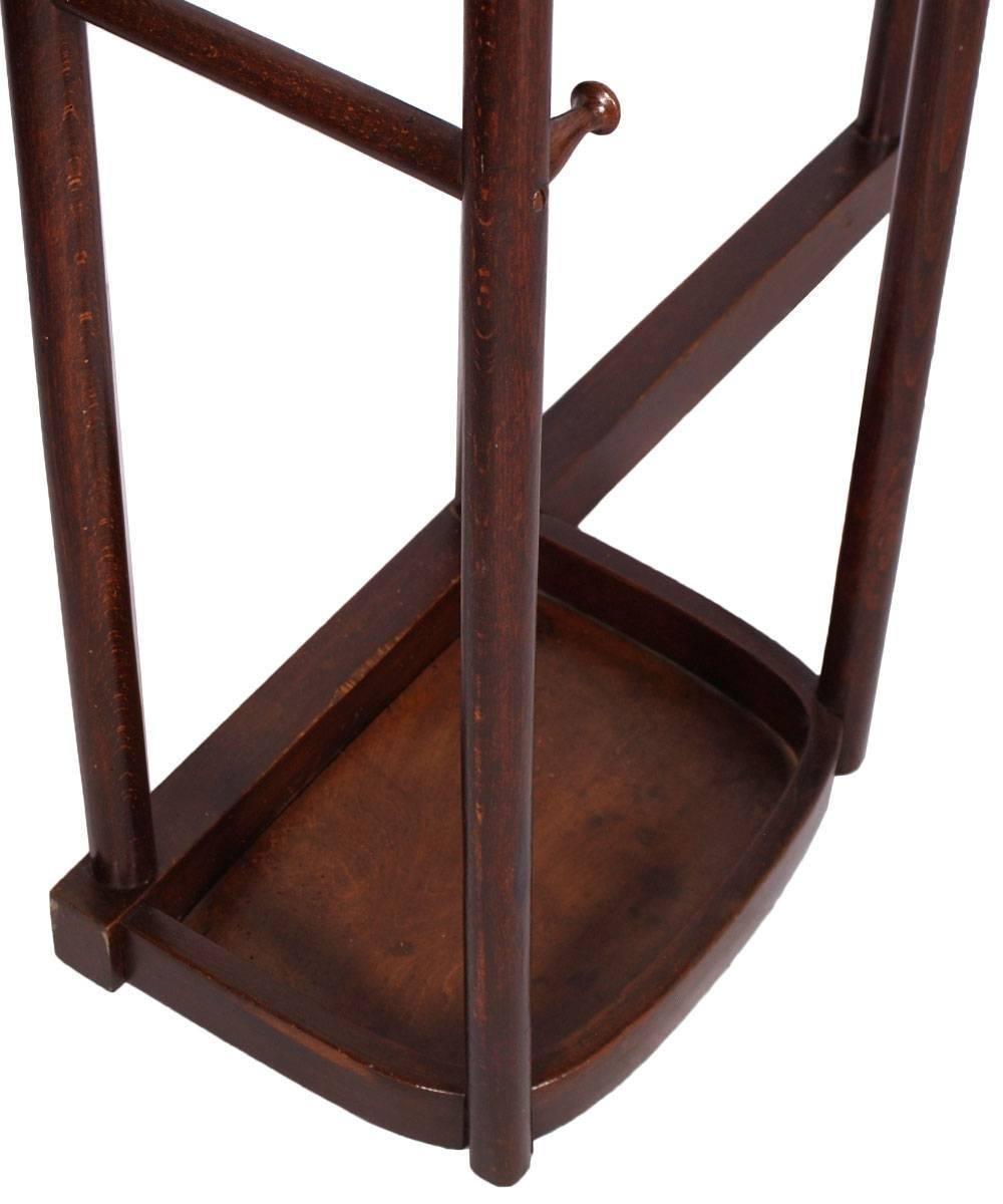 porte manteau d 39 entr e avec miroir art nouveau de thonet 1910s en vente sur pamono. Black Bedroom Furniture Sets. Home Design Ideas