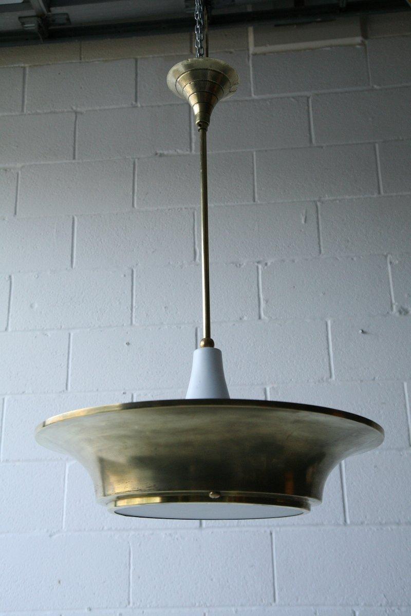 Brass Ceiling Light, 1930s