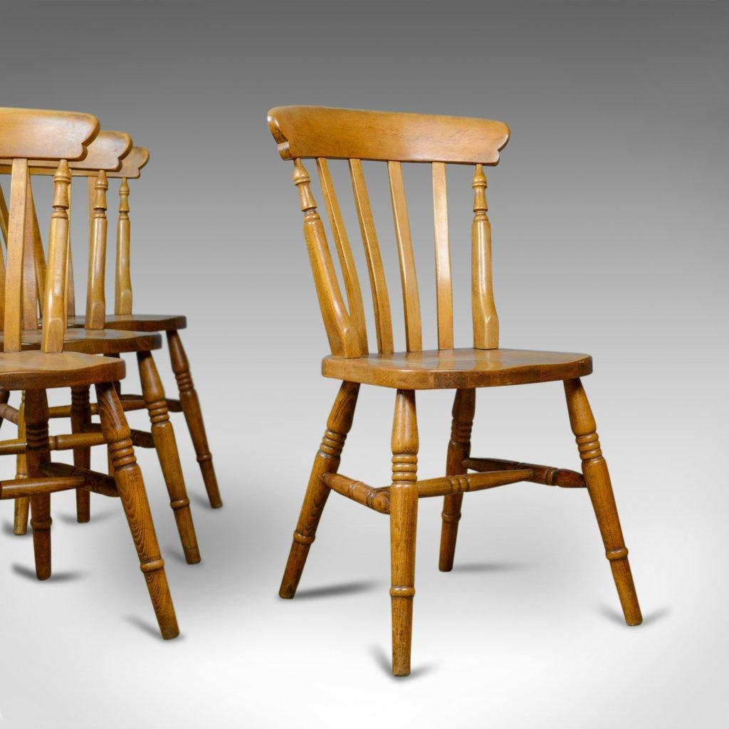 Sedie da pranzo windsor antiche set di 4 in vendita su pamono for Sedie da pranzo