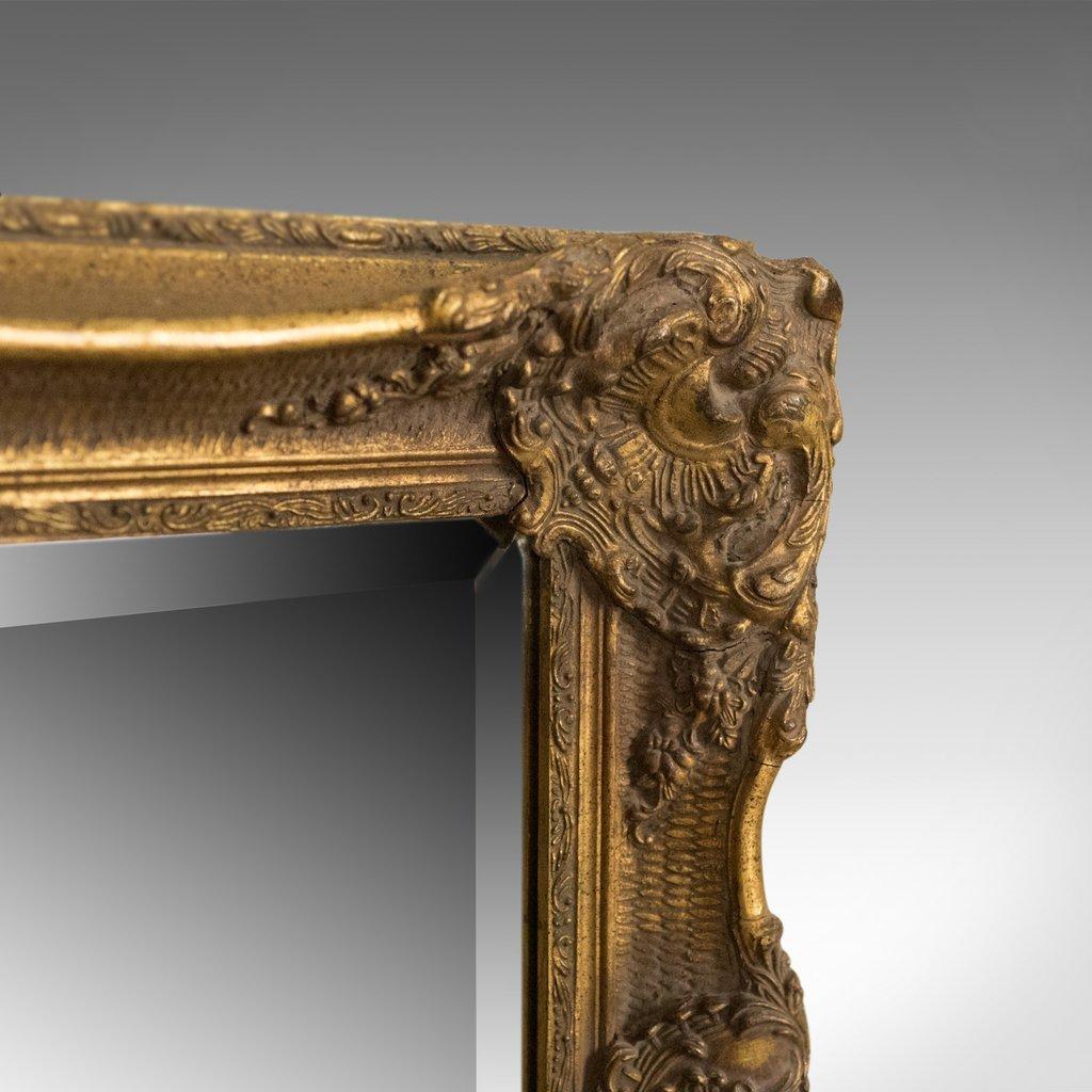 vintage wandspiegel mit rahmen aus vergoldetem gips im. Black Bedroom Furniture Sets. Home Design Ideas