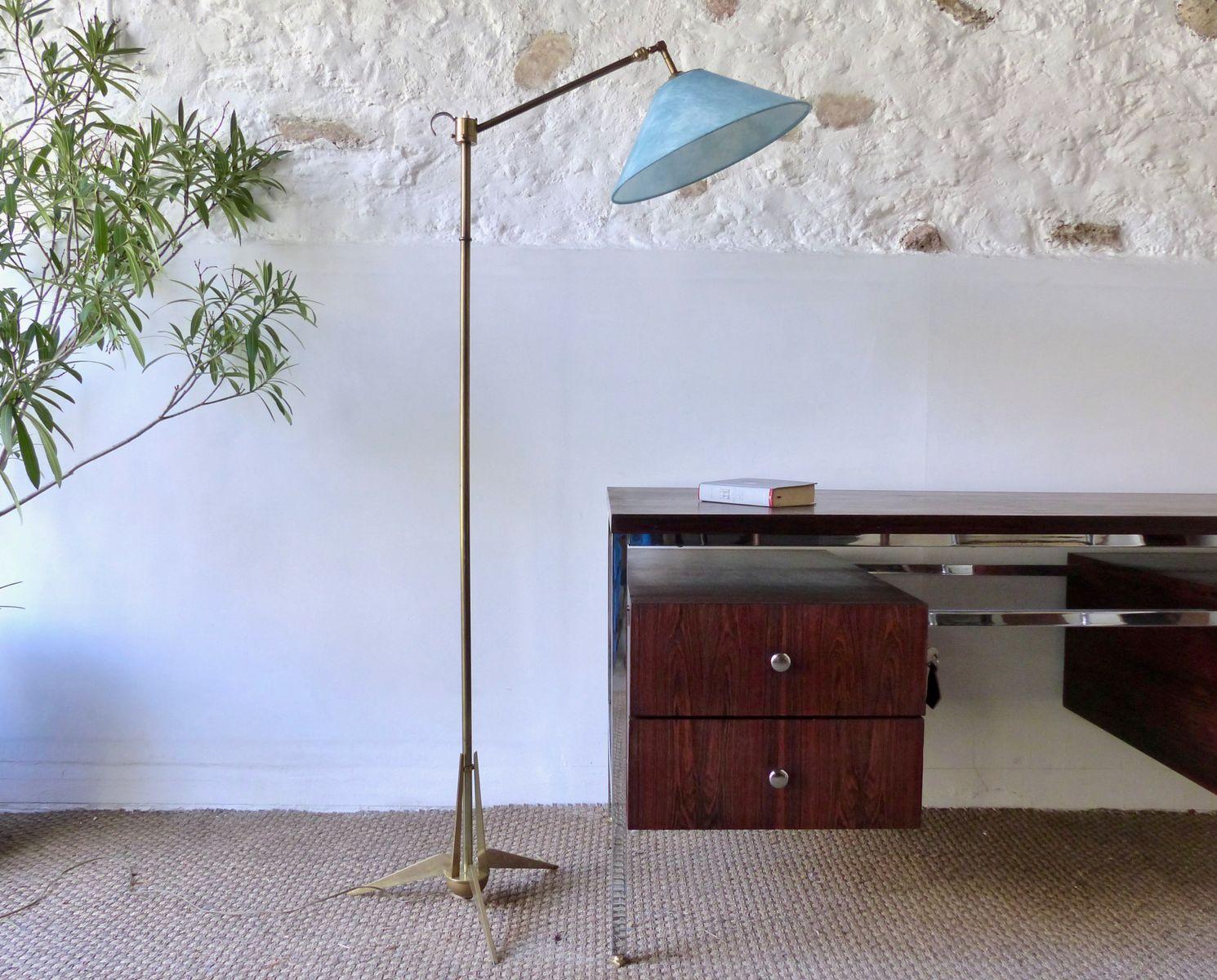 Dreibeinige Lampe aus Messing, 1960er
