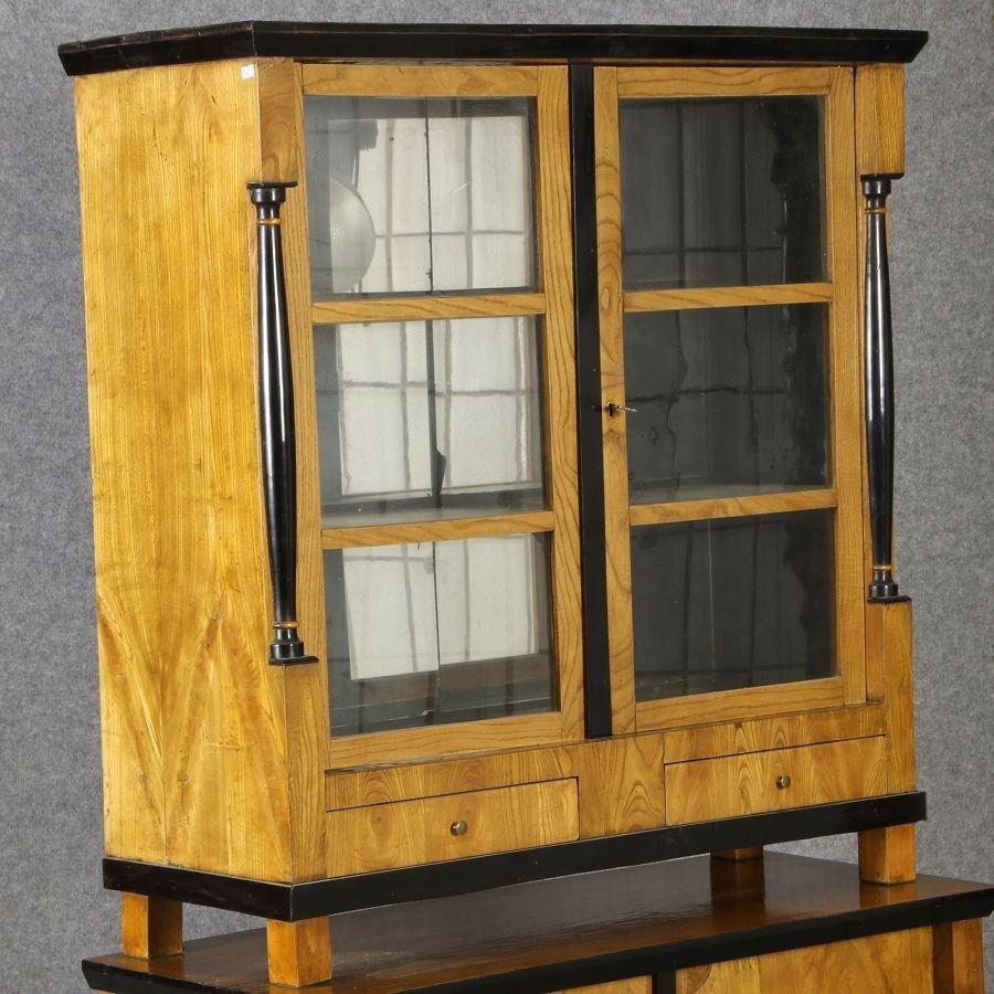 vitrine en bois et en verre allemagne 1810s en vente sur. Black Bedroom Furniture Sets. Home Design Ideas
