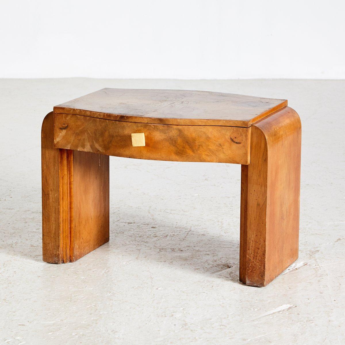 Art Deco Walnut Nightstand 1950s
