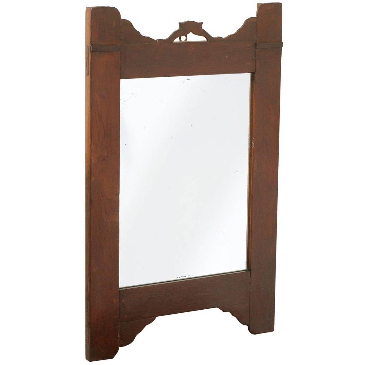 miroir art nouveau antique en noyer en vente sur pamono. Black Bedroom Furniture Sets. Home Design Ideas