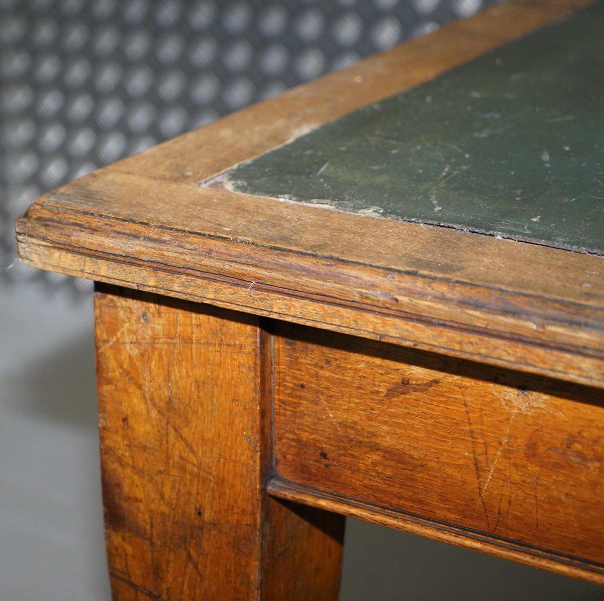 grande table de salle manger en ch ne massif 1900s en. Black Bedroom Furniture Sets. Home Design Ideas