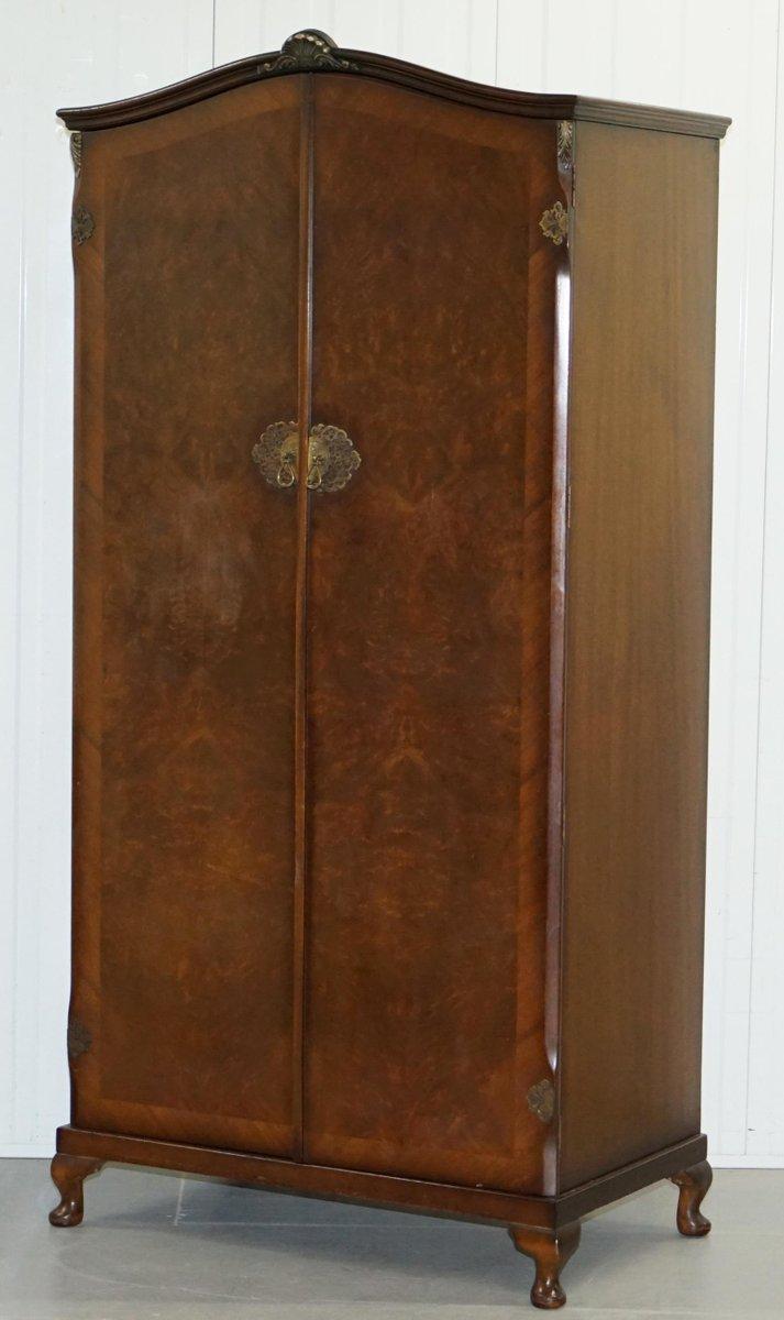 Kleiderschrank aus Nussholzwurzel, 1930er