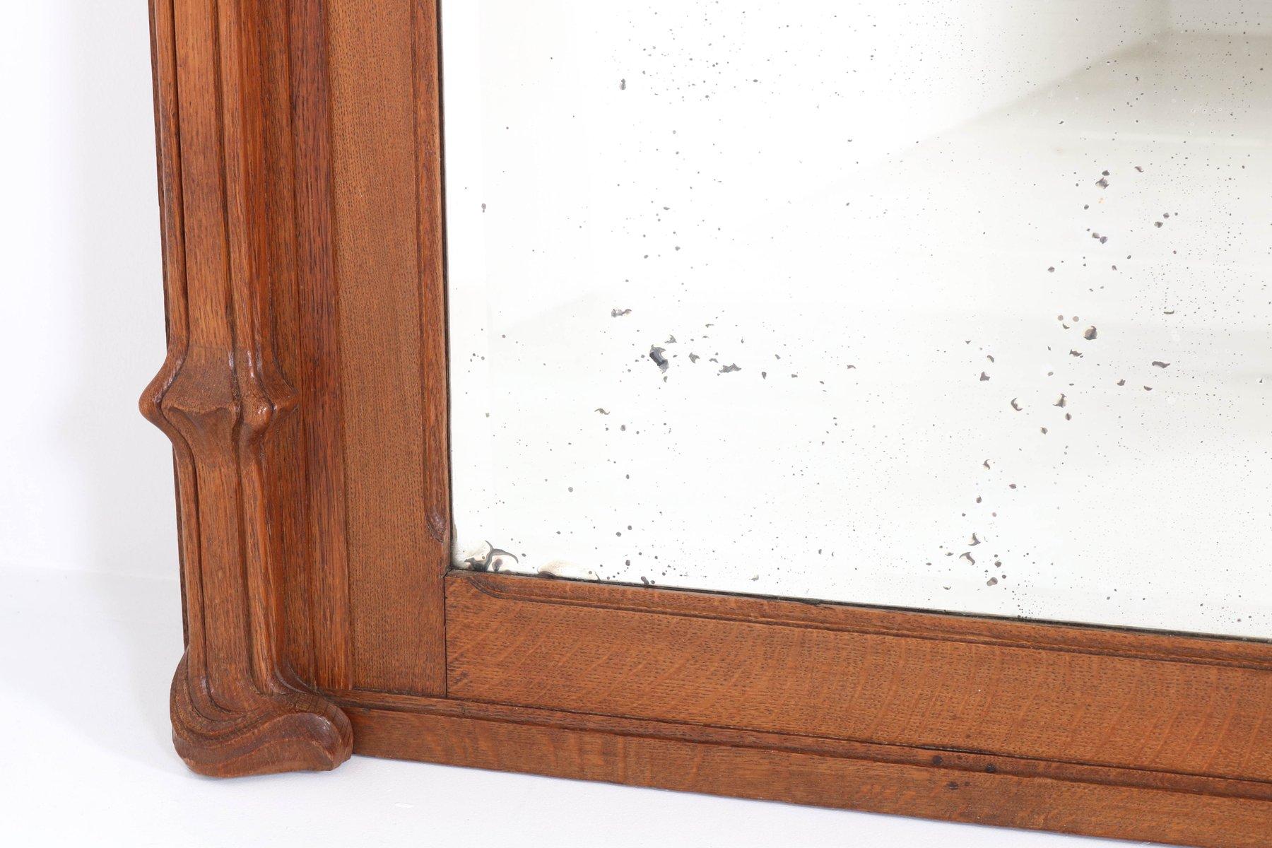 grand miroir art nouveau en ch ne france 1900s en vente. Black Bedroom Furniture Sets. Home Design Ideas