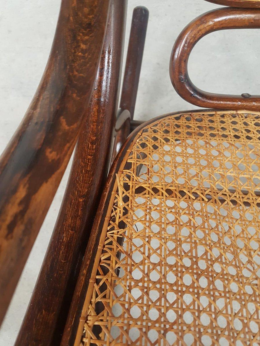 Antique Bentwood Cane Amp Rattan Rocking Chair From Fischel