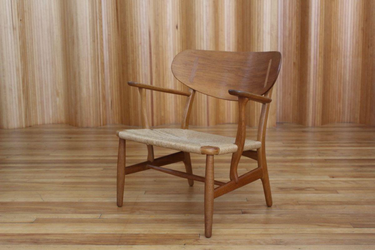 CH22 Stuhl aus Eiche von Hans J. Wegner für Carl Hansen & Søn, 1950er