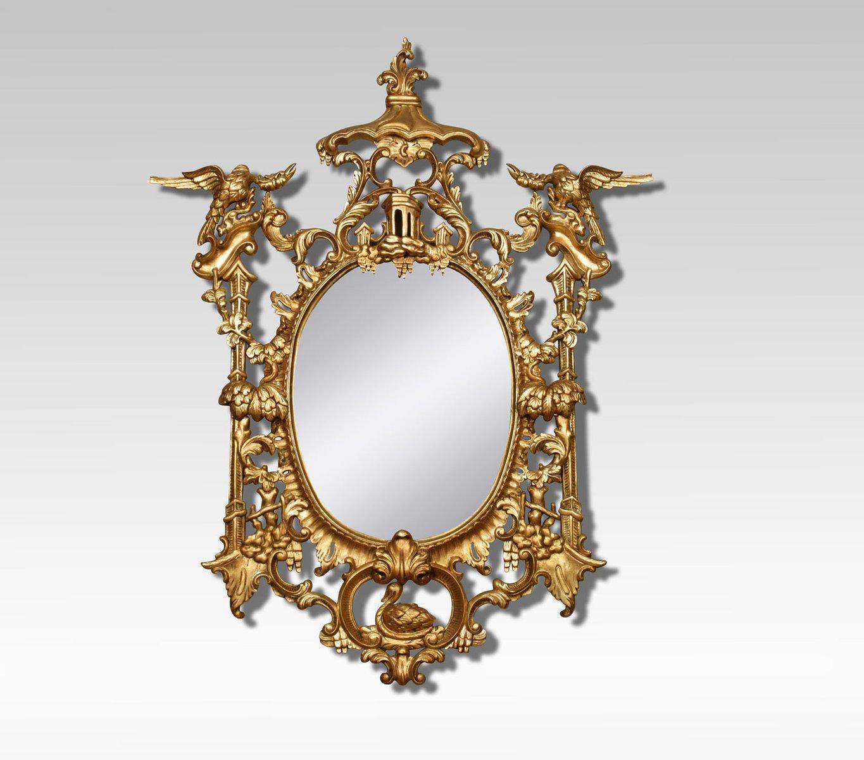 Specchi in stile chippendale antichi in legno dorato cina set di 2 in vendita su pamono - Specchi in stile ...