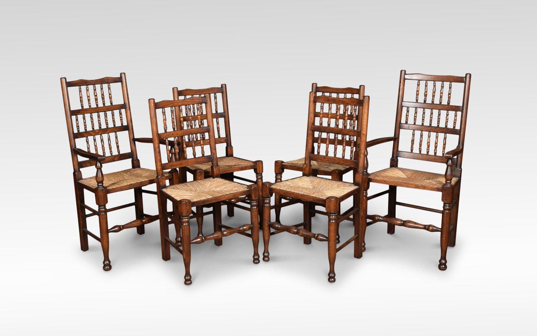 massives vintage set mit refektoriums esstisch 6 st hlen. Black Bedroom Furniture Sets. Home Design Ideas