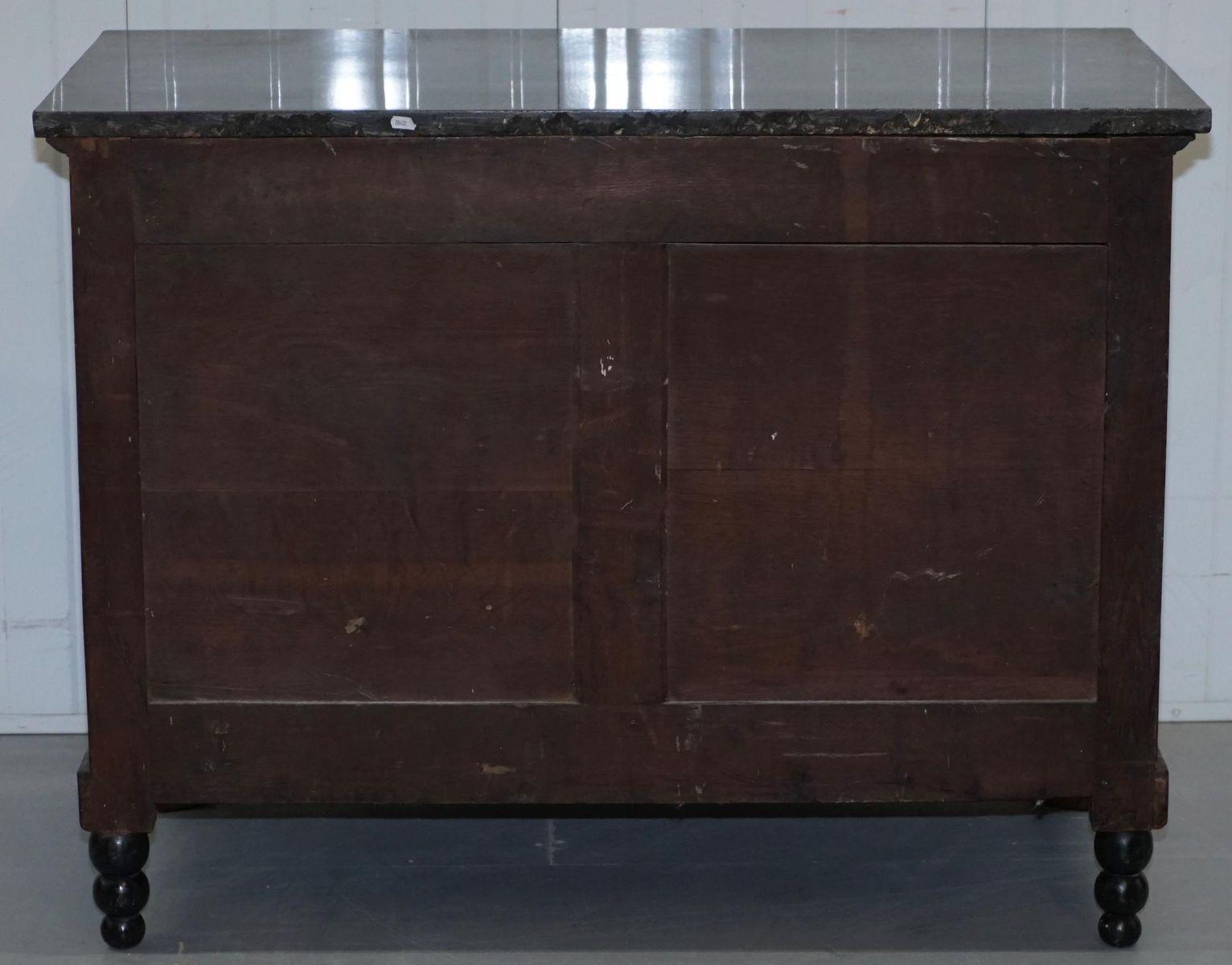 antike franz 246 sische empire kommode mit marmorplatte bei pamono kaufen