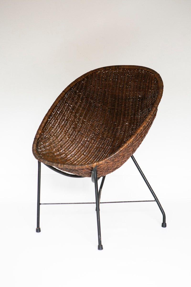 Brasilianischer Mid-Century Concha Sessel aus Schilfrohr von Martin Ei...