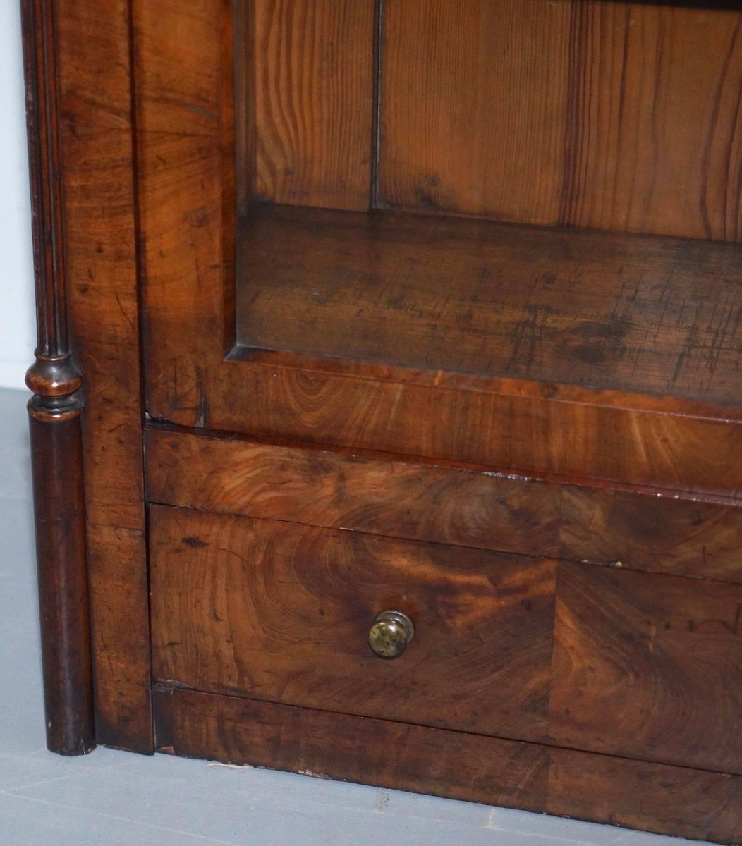 Regency Mahogany Arched Top Bookcase 1810s