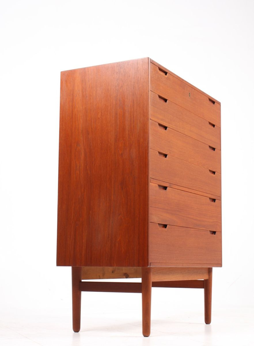 mid century kommode aus teak von svend langkilde f r. Black Bedroom Furniture Sets. Home Design Ideas