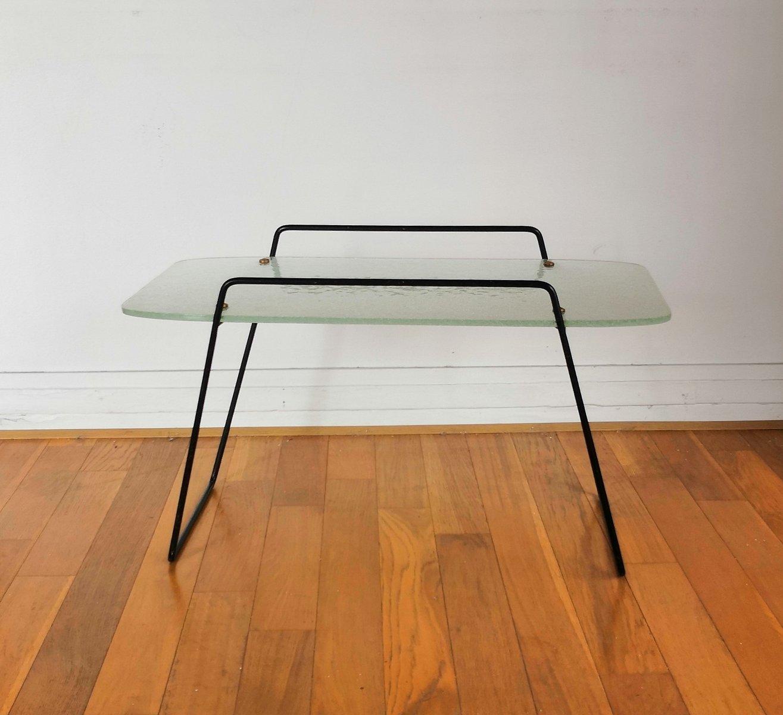 moderner couchtisch aus glas messing 1950er bei pamono. Black Bedroom Furniture Sets. Home Design Ideas