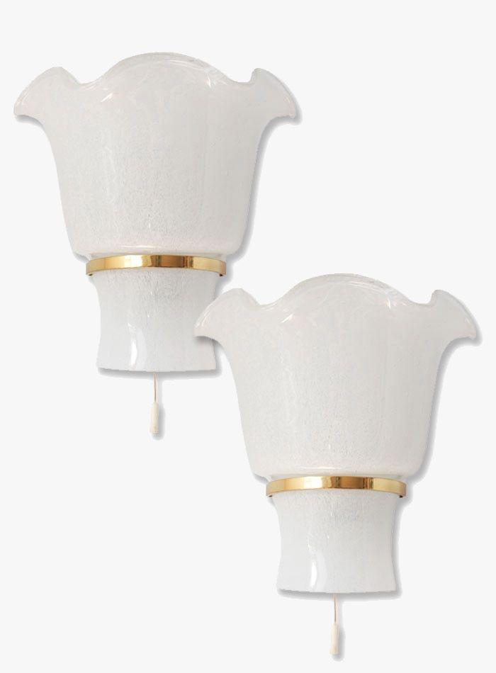 Wandlampen aus Muranoglas von Doria Leuchten, 1960er, 2er Set