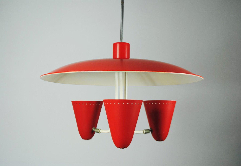 Deckenlampe von H. Busquet für Hala Zeist, 1950er
