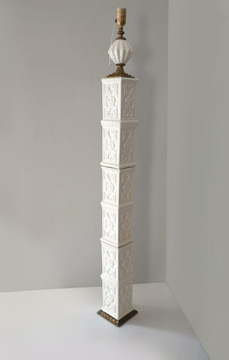 Manises Keramik Stehlampe, 1970er