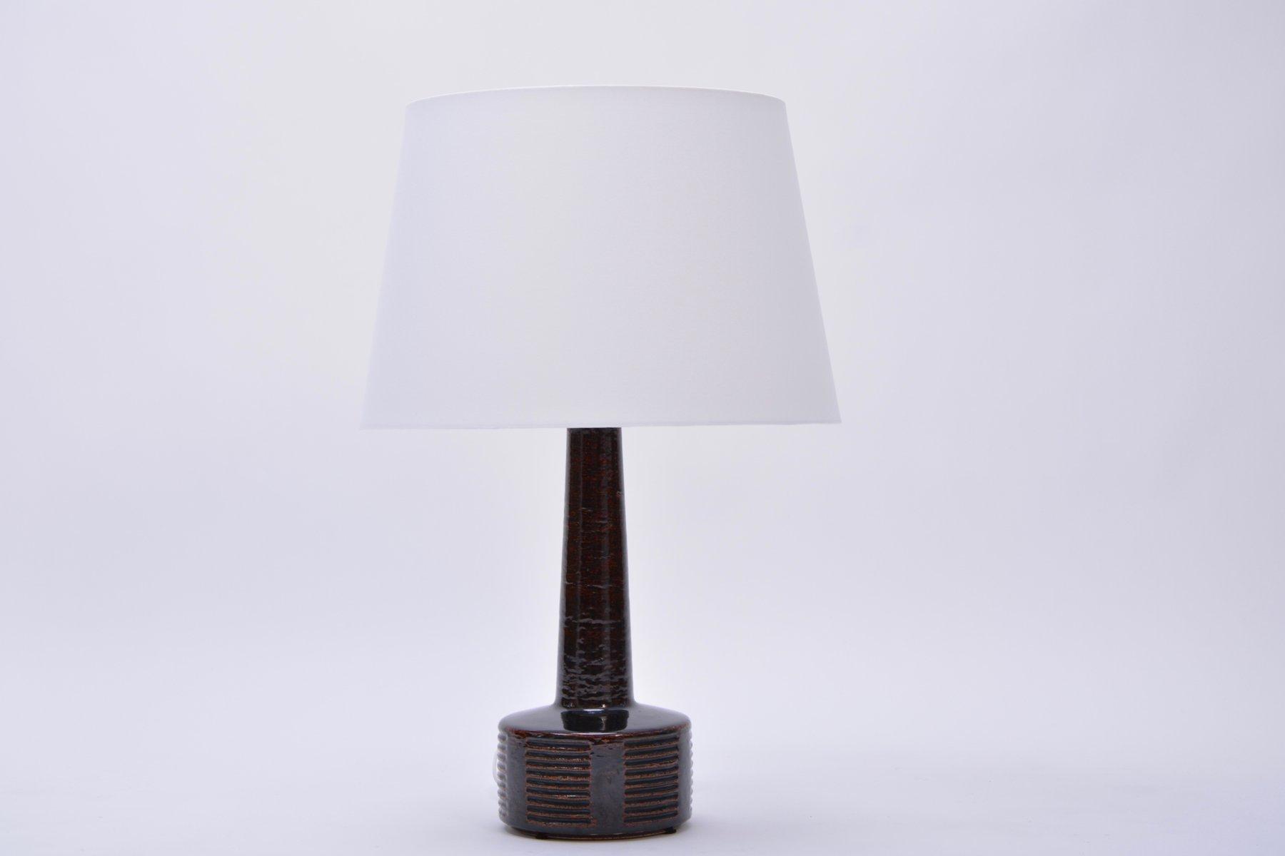 Hohe Vintage Keramik Tischlampe von Per Linnemann-Schmidt für Palshus,...